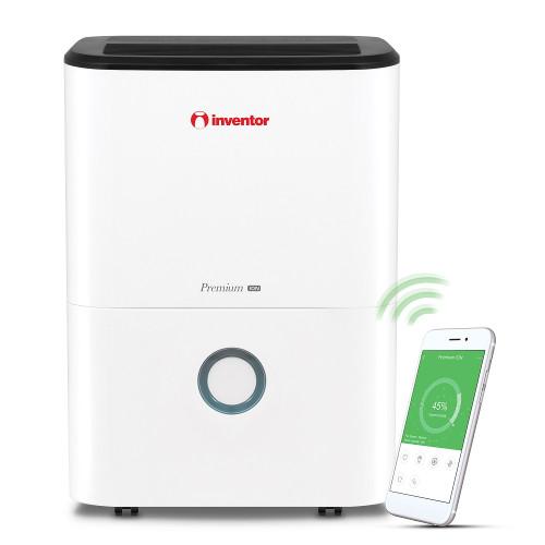 Dezumidificator casnic Inventor Premium ION, capacitate 20 litri, Ionizator, control WiFi, Dezumidificare inteligenta, Roti mobile