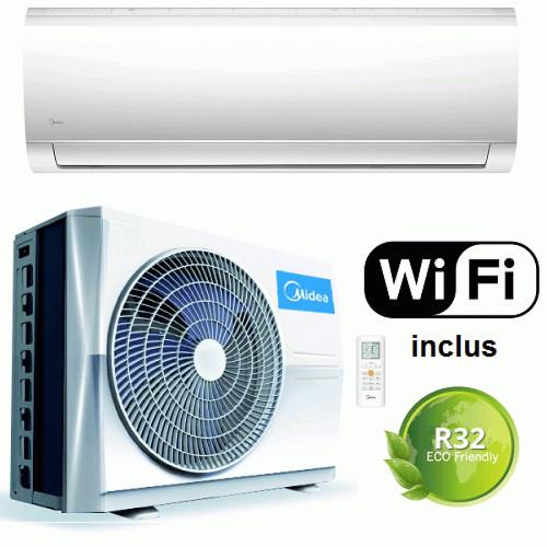 Aer conditionat Midea Blanc MA-12NXD0-I/MA-12N8D0-O, 12000 BTU, Control WiFi, Filtru Cold Catalyst, freon R32, A++