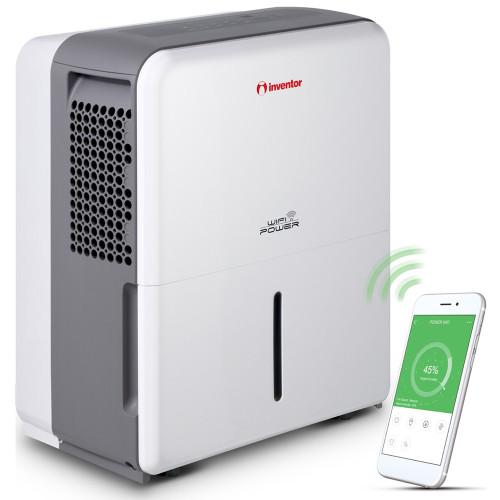 Dezumidificator casnic Inventor Power PWR-WiFi-30L, conectare WiFi, capacitate 30 litri, Mod uscare haine, Roti mobile