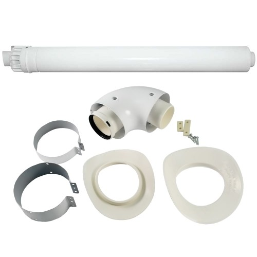 Kit evacuare gaze arse centrala termica condensare Ariston, diametru 60/100 mm, 3318073