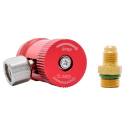 Racord incarcare freon aer conditionat auto QH-1234 R1234yf, presiune inalta, adaptor inclus