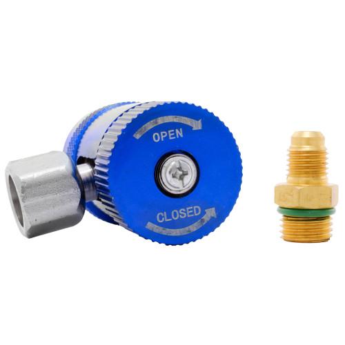 Racord incarcare freon aer conditionat auto QL-1234 R1234yf, presiune joasa, adaptor inclus