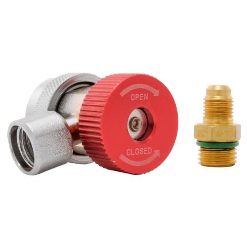 Racord incarcare freon aer conditionat auto QC-H R134, presiune inalta, adaptor inclus