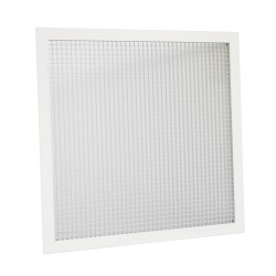 Grila rectangulara ventilatie sau climatizare tip fagure, 595 x 595 mm, rama aluminiu, alb