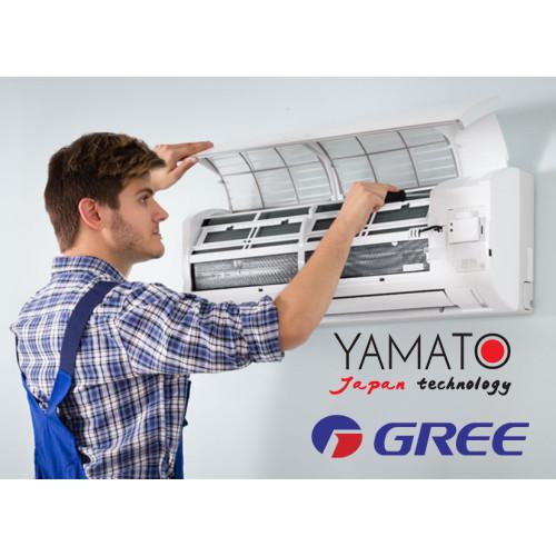 Montaj aer conditionat tip split Gree & Yamato 9000 - 12000 BTU