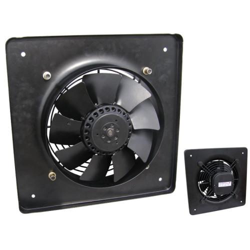 Ventilator axial cu placa patrata YWF-B4E-630S, diametru 630 mm, 220V, aport aer proaspat din exterior in interior