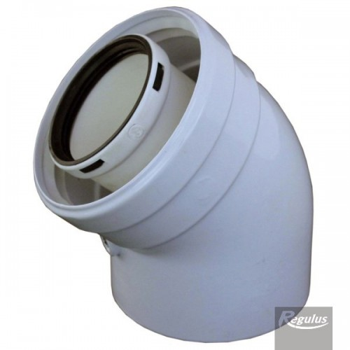 Cot prelungire kit evacuare centrala termica condensare 45 grade PP D=60/100 Regulus 6140