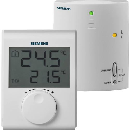Termostat ambiental Siemens RDH100RF, fara fir, neprogramabil, afisaj digital, centrala termica