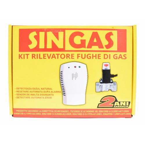 Detector de gaz natural cu electrovalva Singas KL-QG07