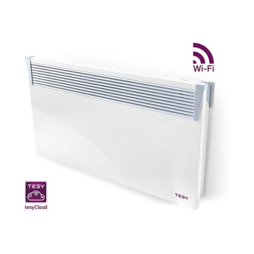Convector electric Tesy 2500 W, control electronic, protectie anti-inghet, protectie supraincalzire, instalare perete, afisaj LED, programare saptamanal, modul WiFi inclus