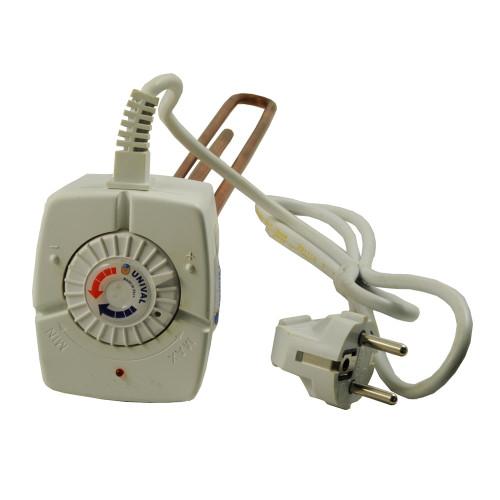 "Rezistenta electrica cu termostat Unival, racord 1 1/4"", capacitate 3000 W, alimentare 230V"