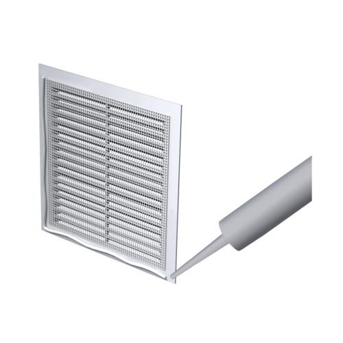 Grila ventilatie rectangulara cu plasa de insecte Vents MV 250-1 s, ABS
