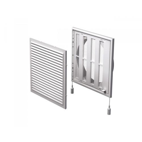 Grila ventilatie rectangulara cu plasa de insecte si clapeta antiretur Vents MV 250/200 VRs