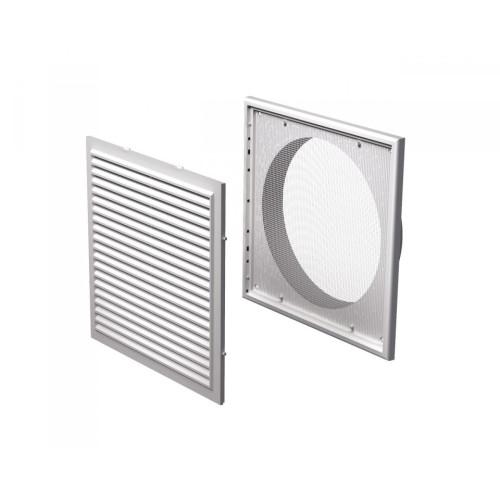 Grila ventilatie rectangulara cu plasa de insecte Vents MV 250/200 Vs, ABS