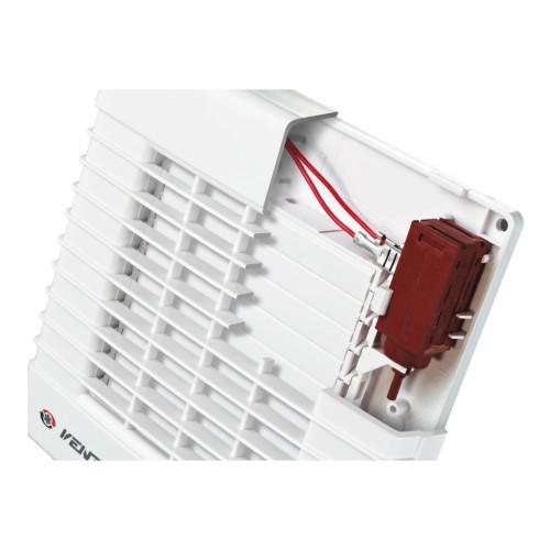 Ventilator casnic axial de perete jaluzele automate si timer Vents 150 MAT