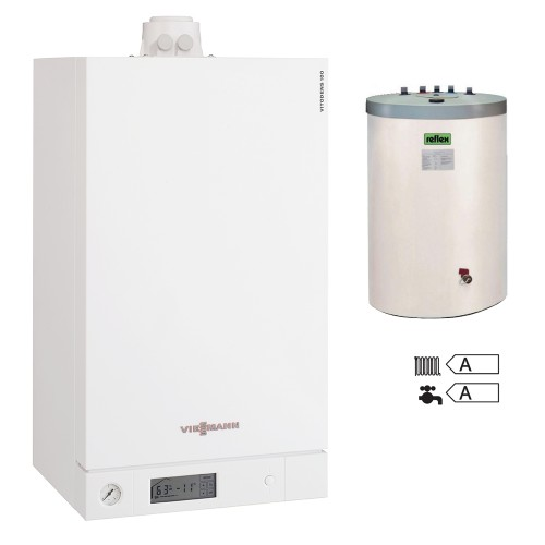 Centrala termica in condensare Viessmann Vitodens 100-W B1HC170 26 kW pachet boiler Reflex 120 litri