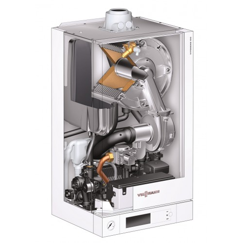 Centrala termica in condensare Viessmann Vitodens 100-W B1HC172 26 kW pachet boiler 300 litri