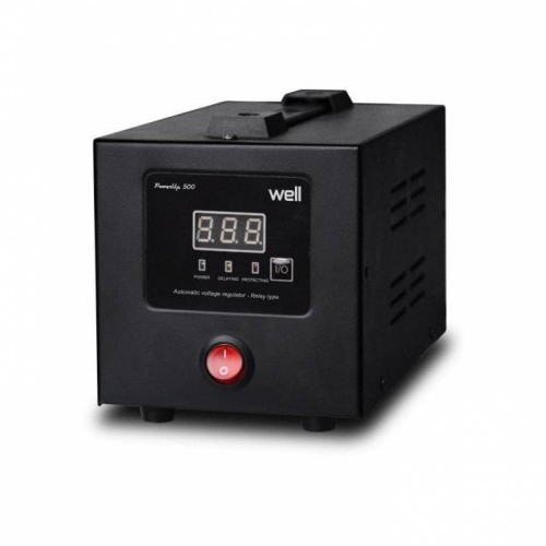 Stabilizator automat de tensiune cu releu Well AVR-REL-POWERUP1000-WL