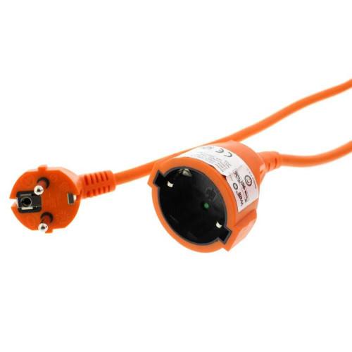 Cablu prelungitor 5m 1.5 mm IP20, portocaliu, Well