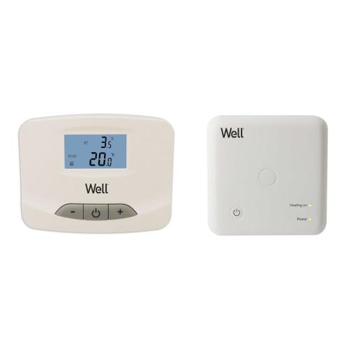 Termostat electronic cu afisaj digital wireless Well, THERMALW-WL, neprogramabil