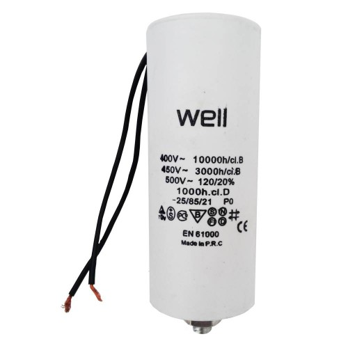 Condensator pornire motor Well MOTCAP 35uF 400V cu fir