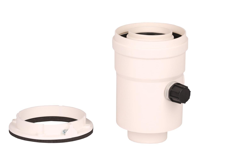 Plecare verticala kit evacuare centrala termica condensare ATI Tip 3, diametru 60 / 100, PP / PP, Compatibil Ferroli Biasi Fondital Nova Florida Savio