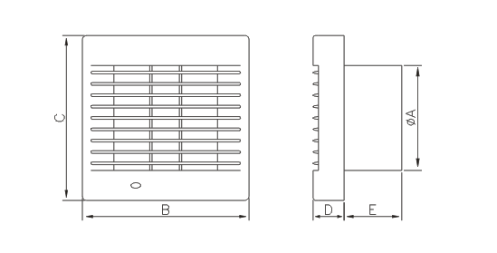 Dimensiuni ventilator casnic Dospel Polo 6 WC