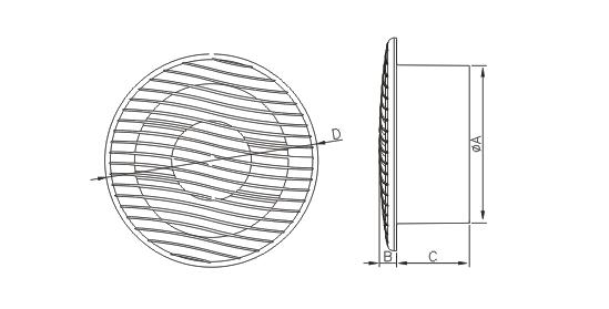 Dimensiuni ventilator casnic Dospel NV 12