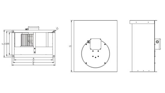 Dimensiuni ventilator industrial Dospel WKS 1000