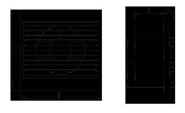 Dimensiuni ventilator casnic Dospel Zefir