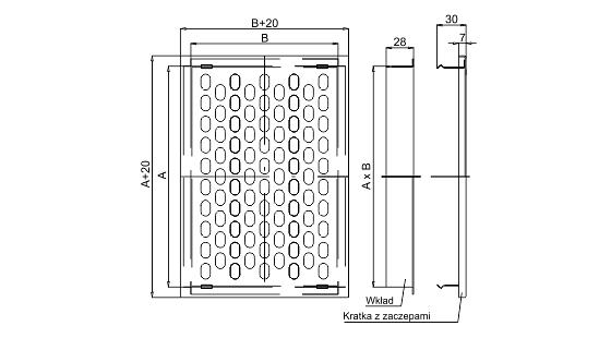 Dimensiuni grila ventilatie Dospel D/TKM