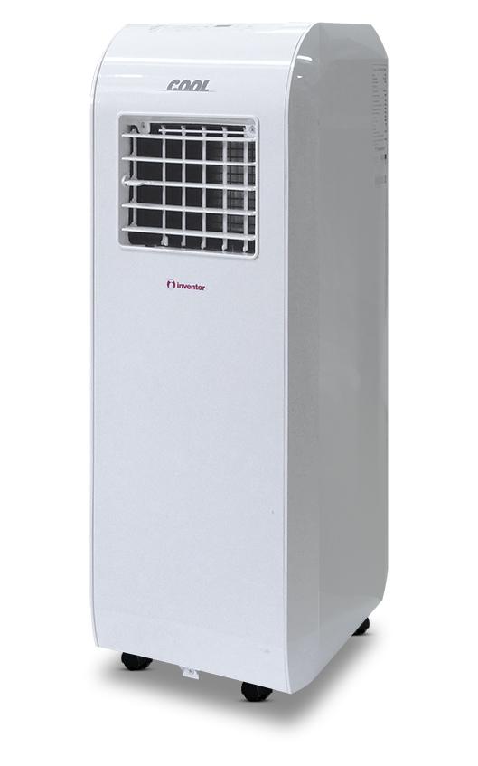 Aparat aer conditionat portabil mobil Inventor Cool 8000 BTU, clasa A, design ECO, ecran LCD, roti, telecomanda, Alb