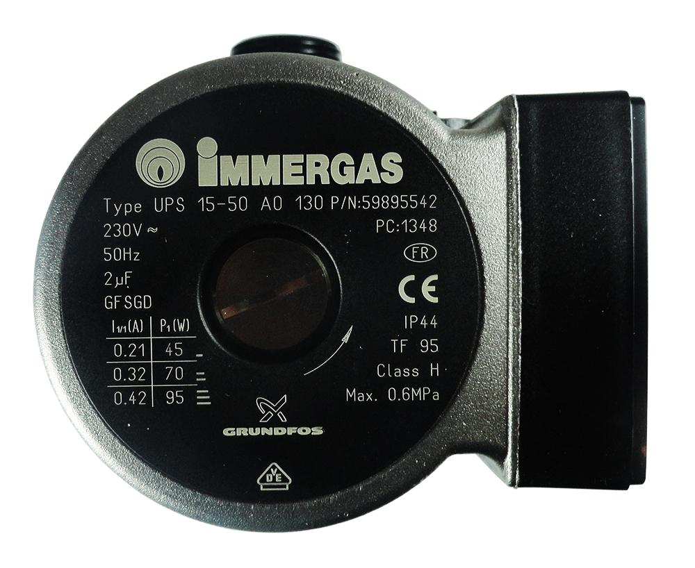 Pompa circulatie pentru centrala termica Immergas, modele Eolo Mini Eolo Star si Eolo Star KW, cod piesa 1.015561 (3.021396)