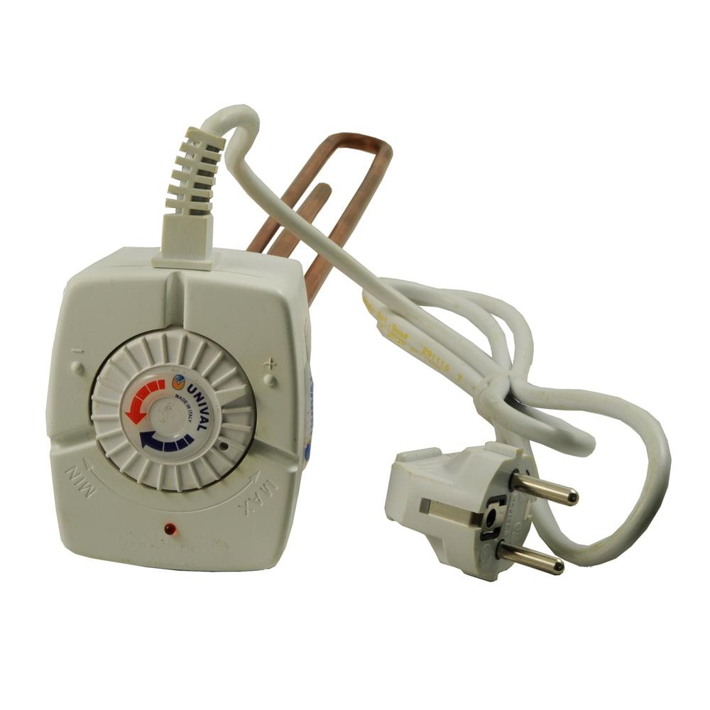 Rezistenta electrica cu termostat Unival, racord 1 1/4, capacitate 2000 W, alimentare 230V