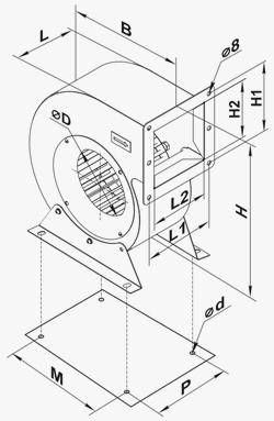 Dimensiuni ventilator vents VCU
