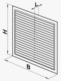 Dimensiuni grila Vents MV-1