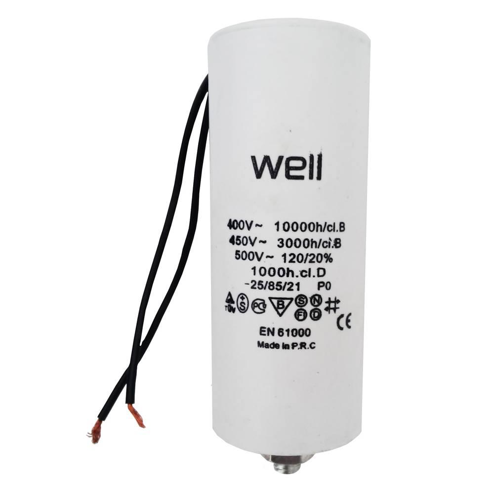 Condensator pornire motor Well MOTCAP 25uF 400V cu fir