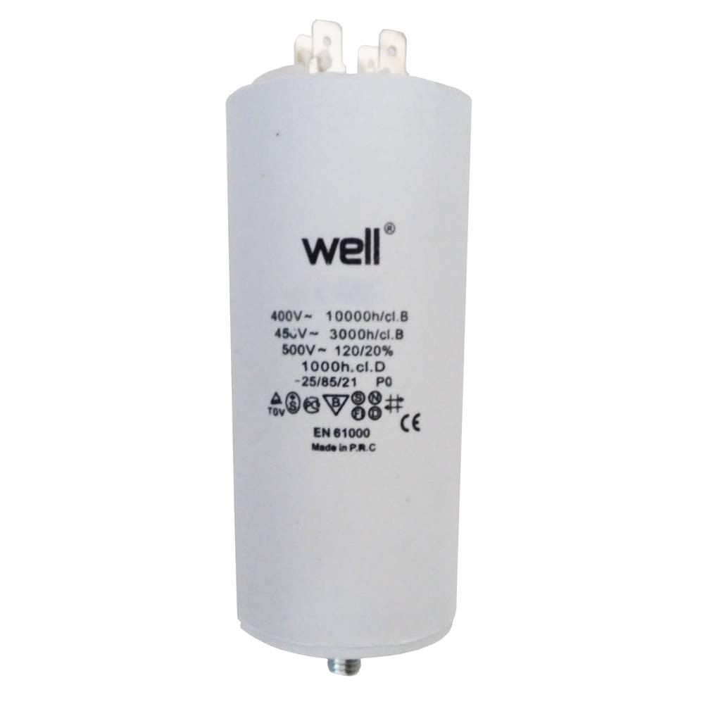 Condensator pornire motor Well MOTCAP 25uF 400V cu pini